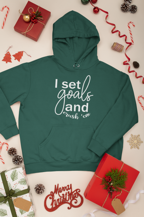 mockup-of-a-pullover-hoodie-with-christmas-decorations-around-it-30635